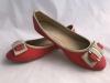 Dámske balerínky RD-888 červeno-krémová