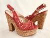 Dámske sandále 31179 červená