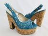 Dámske sandále 31179 modrá