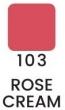 VZORKA Joli Color - dlhotrvajúci lesklý rúž -103- Rose Cream
